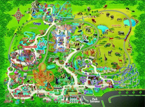 mapa_bush-garden-tampa - gaskatours, inc.