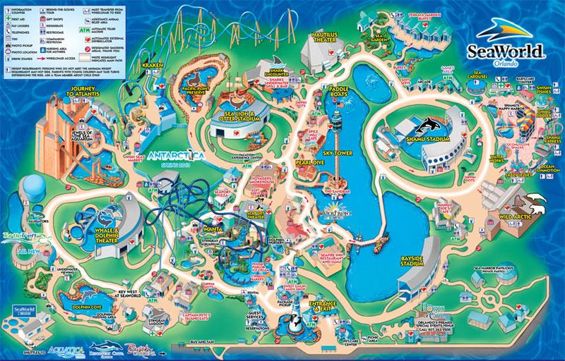 mapas de parques temáticos en orlando - gaskatours, inc.