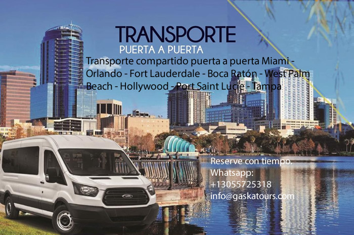 transporte compartido puerta a puerta miami orlando fort lauderdale boca raton west palm beach hollywood tampa
